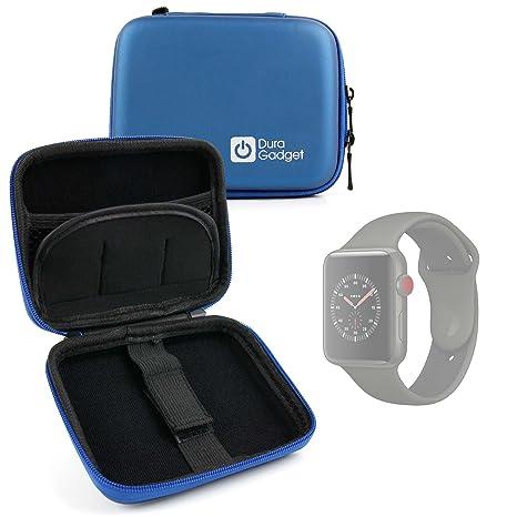 Duragadget Housse étui Rigide en Bleu pour Montre connectée Apple iWatch 3ème série Nike+, Hermes 38 ou 42mm Tous modèles, Boucle Ceinture Bonus: Amazon.fr: ...