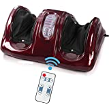 Electric Shiatsu Foot Massager Machine with Remote, Portable Rolling and Kneading Massager for Foot, Calf and Ankle