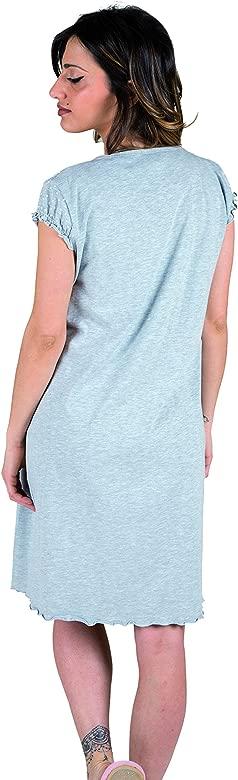 Camisa Clinica para Maternidad pre-Post-Parto Jersey algod/ón Premamy Modelo de Frente Abierto