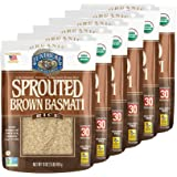 Lundberg Family Farms - Organic Sprouted Brown Basmati Rice, Germinated & Aromatic, 30-Minute Cook Time, 100% Whole Grain, No