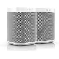 Sonos One | Smart Speaker mit Alexa Sprachsteuerung | Doppelpack | 2x Sonos One (weiß)
