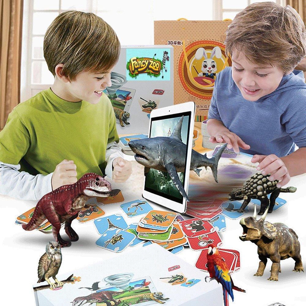 Fancy Zoo AR 4D 68 Lernkarten Kognitive Karte Flashcards. Der virtuelle Zoo Die Tiere der Welt Ihre Kinder Figuren Zeichnen lernen Lernspiel Lernspielzeuz Mehrsprachig Familienspiele Geschicklichkeitsspiele Tierwelt Tierkarten Dinosaurier Figuren Spielesam