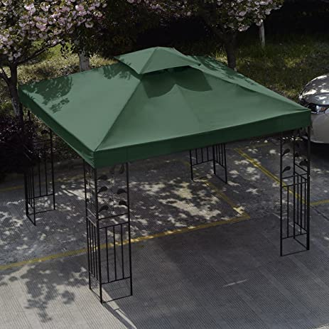 10u0027 x 10u0027 Replacement Gazebo Canopy Green Top Cover Patio Outdoor Shade ... & Amazon.com : 10u0027 x 10u0027 Replacement Gazebo Canopy Green Top Cover ...