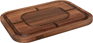 product image for John Boos Block WAL-MN2418150-SM Carving Collection Pyramid Design Reversible Walnut Cutting Board with Juice Groove, 24 Inches x 18 Inches x 1.5 Inches