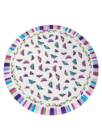 Vinyl Tablecloths   48u0026quot; Round, Butterfly