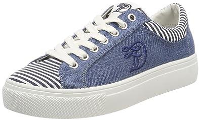 Damenschuhe, Damen Sneakers, Blau (Jeans), 40 EU Tom Tailor