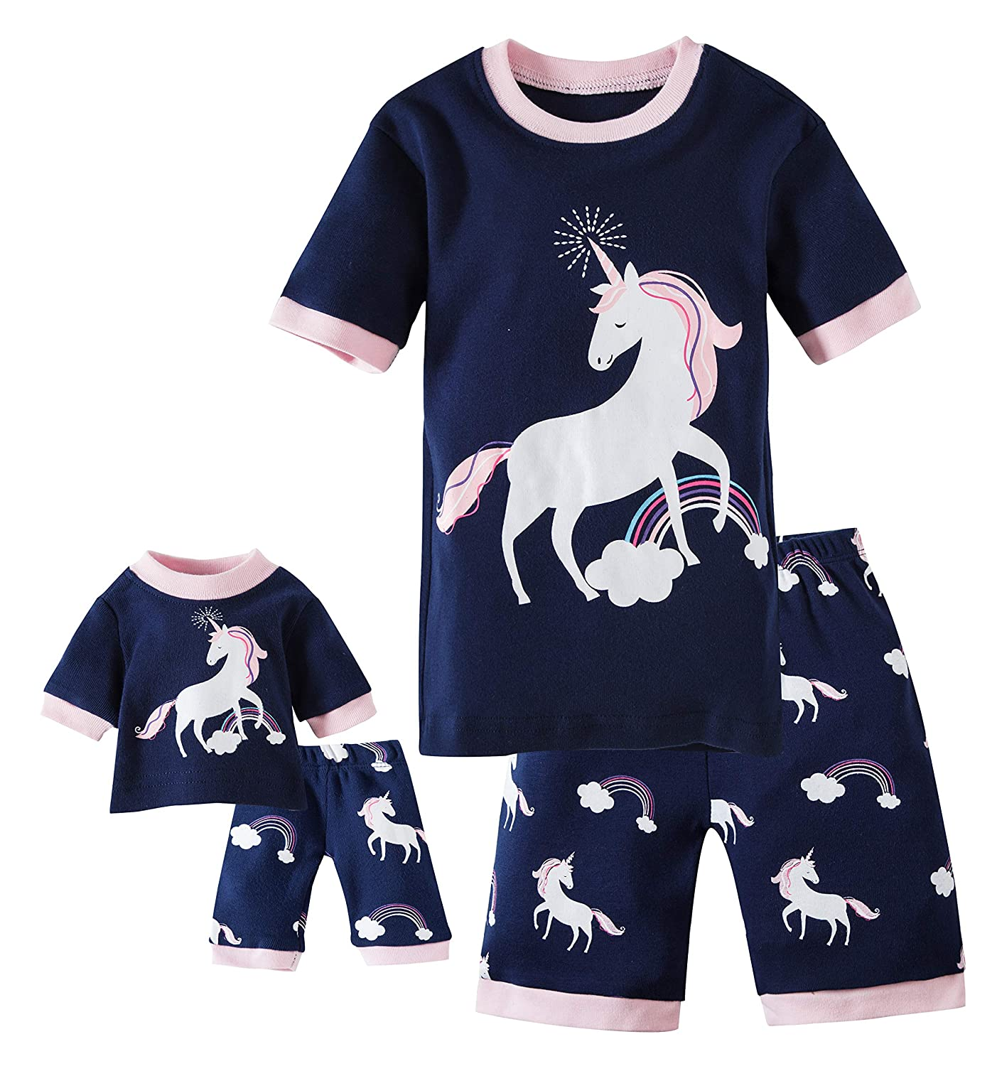dbf55c54ae Amazon.com  Babypajama Deer Little Girls  Pajamas Set 100% Cotton Clothes   Clothing