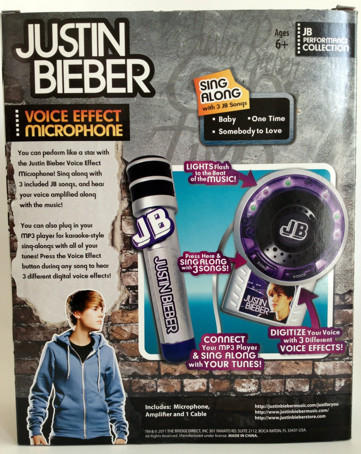 Justin Bieber Voice Effects Microphone with Amplifier