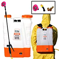 Petra 4 Gallon Battery Powered Backpack Sprayer – Extended Spray Time Long-Life...