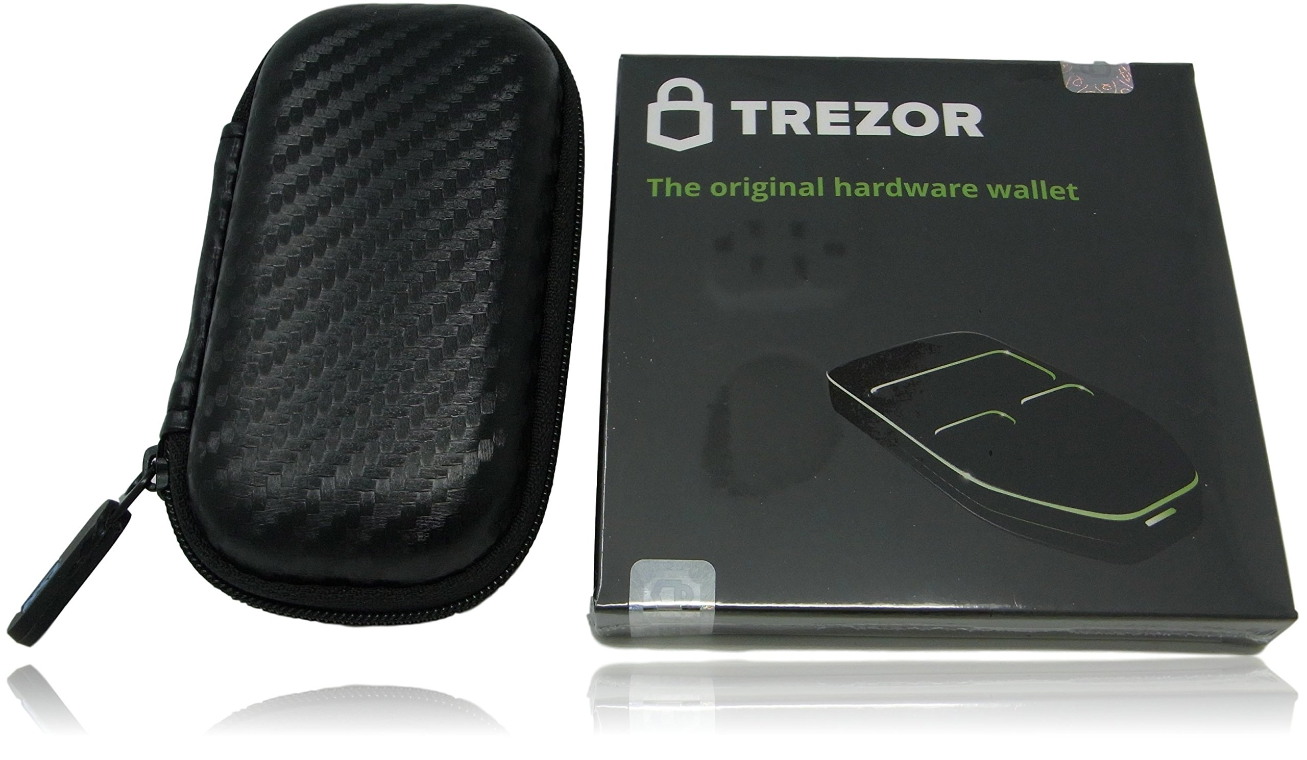 Trezor Bitcoin Hardware Wallet with Custom Case Bundle, Cryptocurrency Storage and Carrying Case, Shockproof, Water Resistant (Black Bundle)