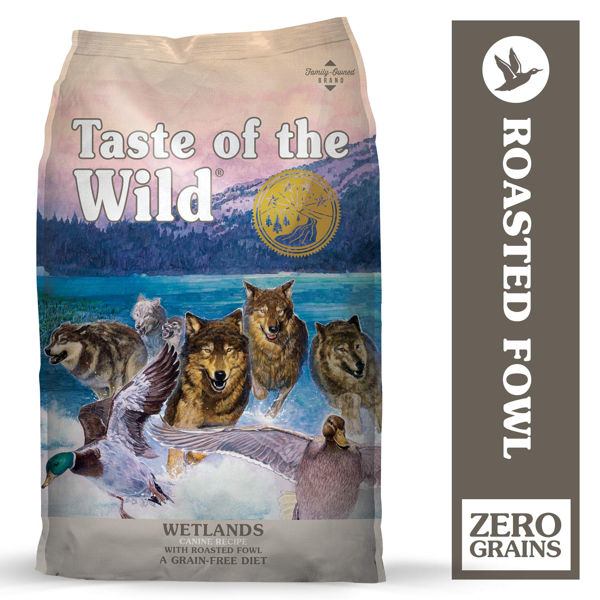 Taste of the Wild Grain Free High Protein Real Meat Recipe Wetlands Premium Dry Dog Food 28lb by Taste of the Wild