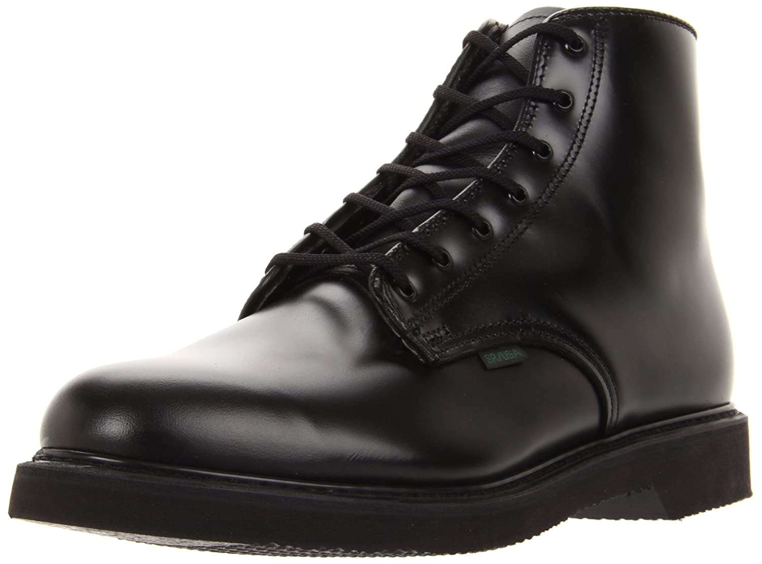 9 2E in Black Bates Mens Lites 6 Leather Lace Up Boot