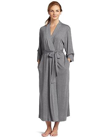 118040d872 Natori Shangri La Long Robe with Kimono Sleeves