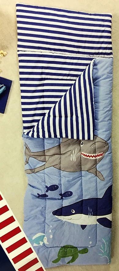 Bajo el mar saco de dormir por Boathouse para niños características divertido colorido mar vida con