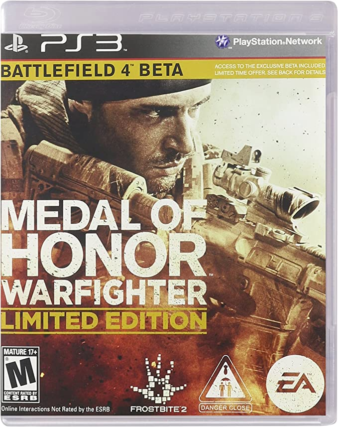 Medal Of Honor WARFIGHTER PS3 (Limited Edition) w Battlefield 4 ...