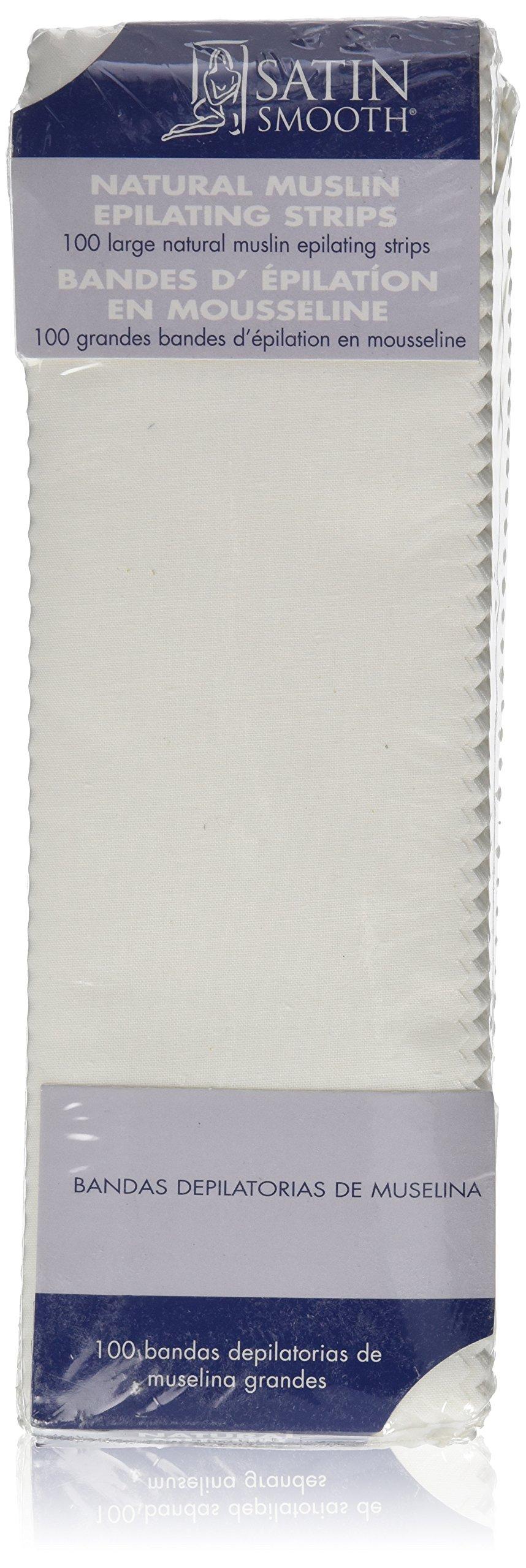 SATIN SMOOTH Muslin Epilating Strips, Large