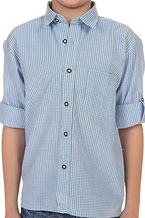 ISAR Trachten Kinder Trachtenhemd Martin - Hellblau - Kariertes Hemd für  Jungen Zu Lederhose Oder Jeans an Oktoberfest Oder Kirchweih: Amazon.de:  Bekleidung