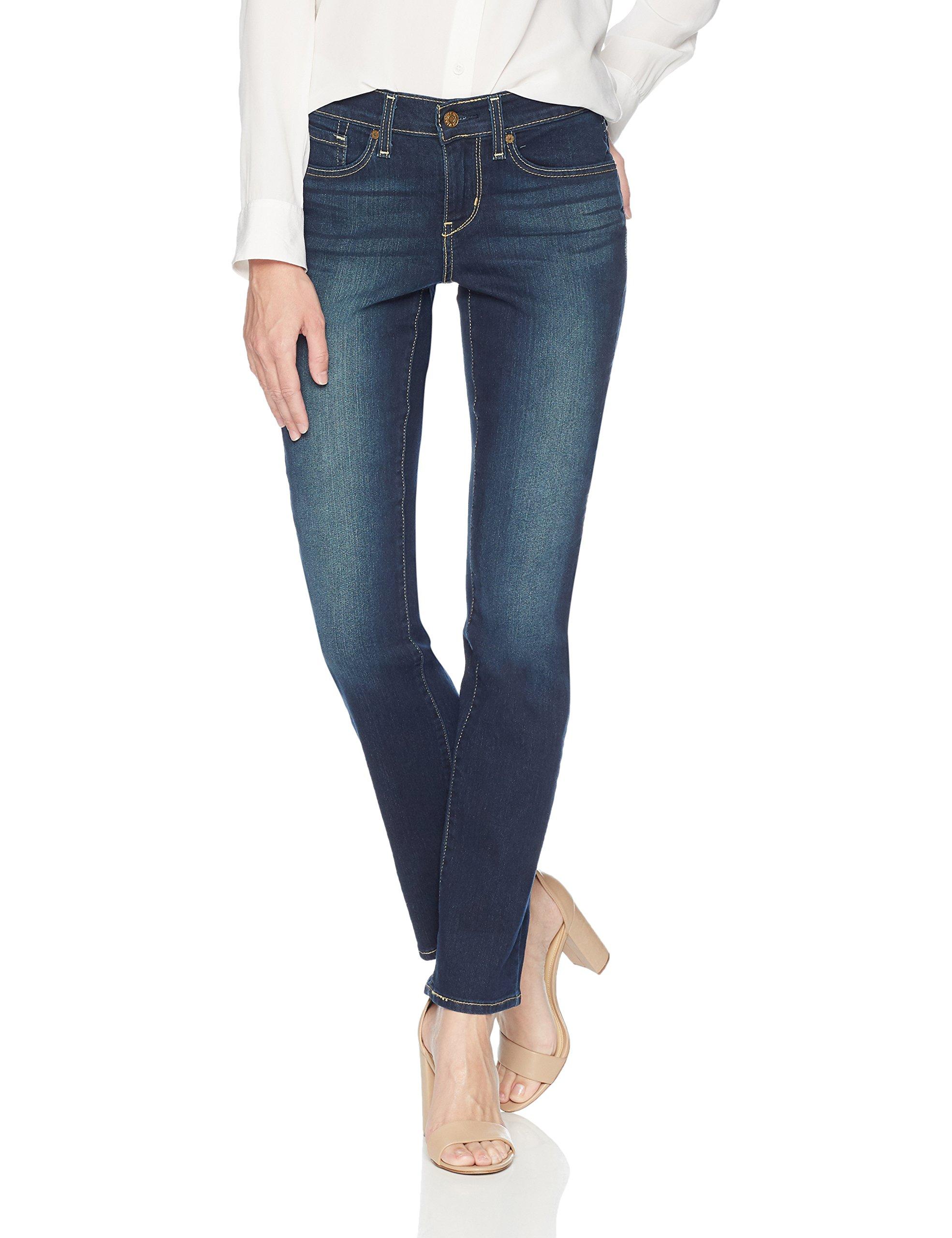 Signature by Levi Strauss & Co Women's Curvy Straight Jeans Pants, Splendor, 14 Medium