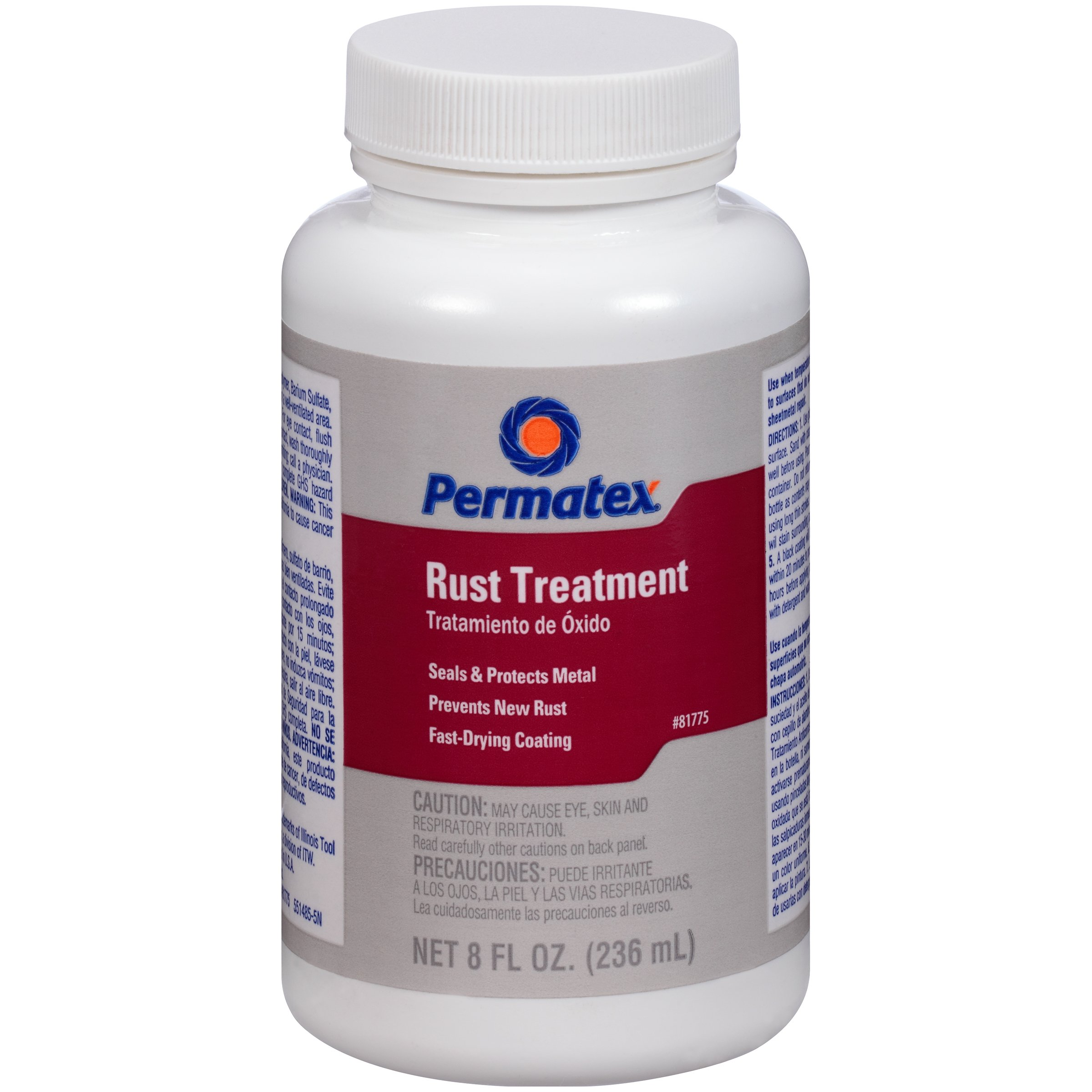 Permatex 81775-12PK Rust Treatment,8 oz. (Pack of 12)