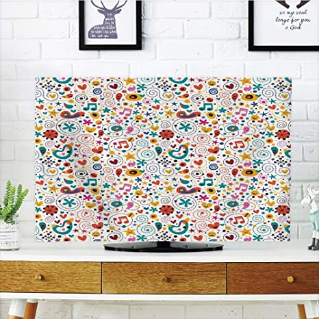 VAMIX - Funda para televisor LCD, diseño de búhos, Flores, Mariposas, Corazones y Copos de Nieve, diseño diversificado, Compatible con televisores de 42 Pulgadas: Amazon.es: Electrónica