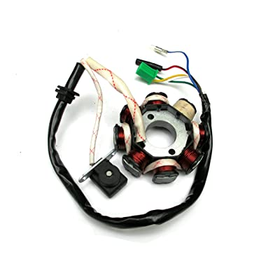 8 Pole Coils Ignition Stator Magneto For GY6 125 150cc Moped Scooter Go Kart ATV: Automotive