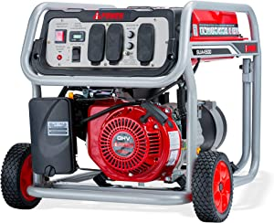 A-iPower SUA4500 4,500-Watt Gasoline Powered Portable Generator Wheel Kit Included, Red