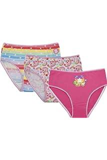 Shopkins Girls Big 3 Pk Briefs Underwear Apple and Strawberry