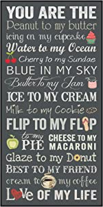 P. Graham Dunn You are The Peanut to My Butter Love of My Life 18 x 9 Wood Wall Plaque Sign
