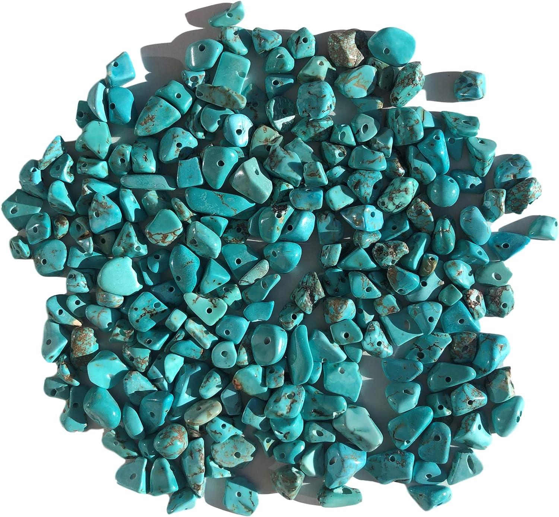 Rhinestone Paradise Aprox. Perlas de Piedras Preciosas (200 Unidades, 15 mm hasta 5 mm), Color Turquesa