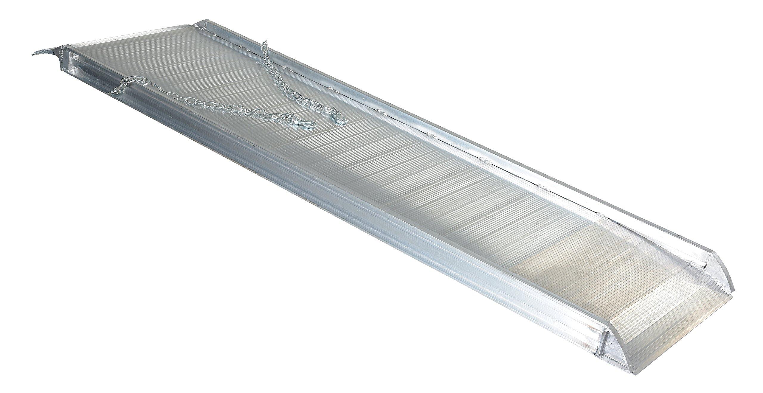 Vestil AWR-28-8A Aluminum Walk Ramp Overlap Style, 2500 lb., 96'' Length, 28'' Width, 4.75'' Height