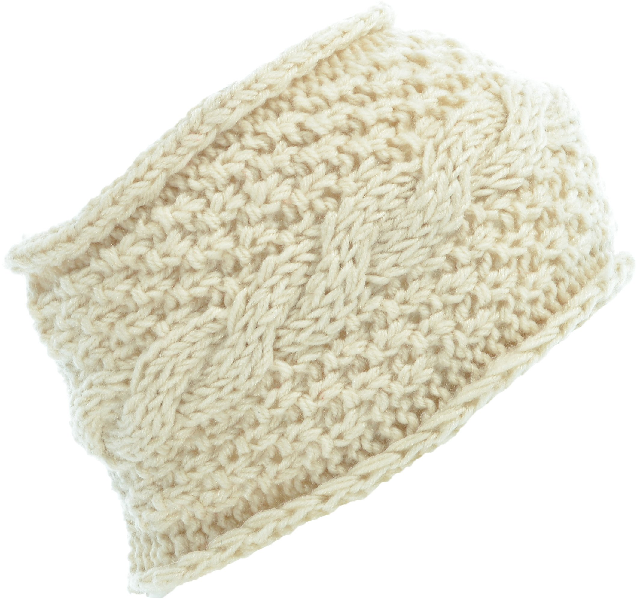 Hand By Hand Aprileo Women's Cable Knitted Headband Headwrap Stretchy Fit [Beige.](One Size)