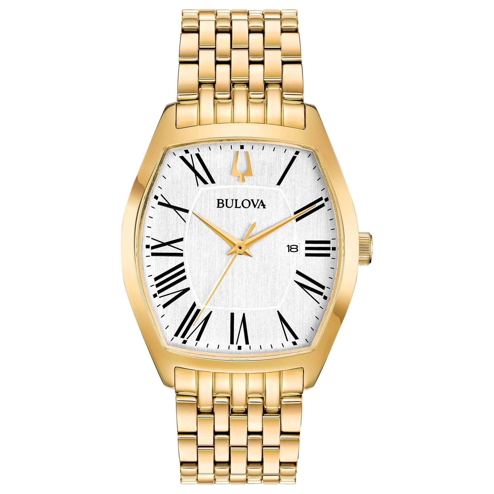 Bulova Gold Tone Quartz Movement Dress Watch (Model: 97M116)