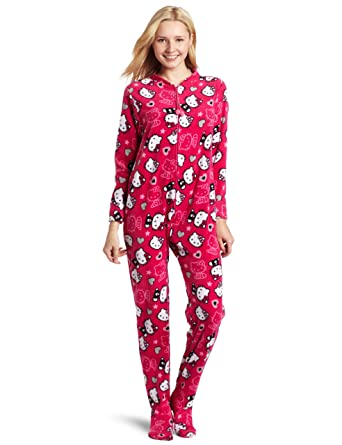 ff2d2836f Hello Kitty Women's Juniors Long-Sleeve Printed Jumpsuit, Fushia, Small