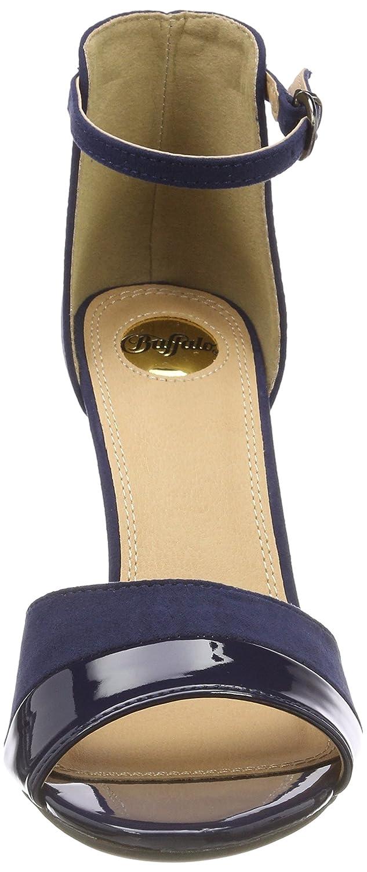 Buffalo 312339 IMI SUEDE PAT PU Damen 10) Knöchelriemchen Sandalen Blau (Navy 10) Damen 2be2a7