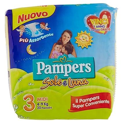 Pampers - Sole e Luna - Pañales - Talla 3 (4-9 kg)