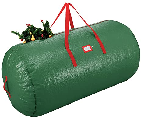 zober christmas tree bag artificial christmas tree storage for un assembled trees up to - Christmas Tree Bags Amazon