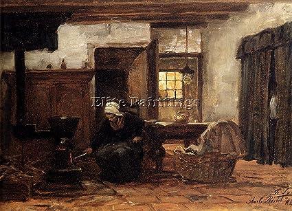 Sadee Philip Lodewijk Jacob iluminación estufa artista pintura al óleo Lienzo Repro Deco, calidad de
