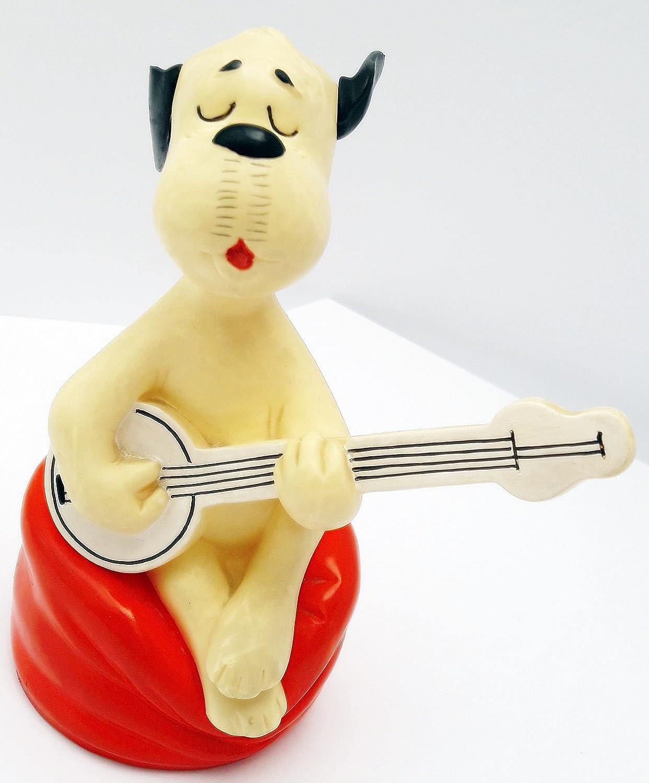 Unbekannt Unbekannt Unbekannt WUM (WIM) mit Gitarre auf einem roten Sitz - Größe ca. 16cm (WUM UND WENDELIN) f3f54a