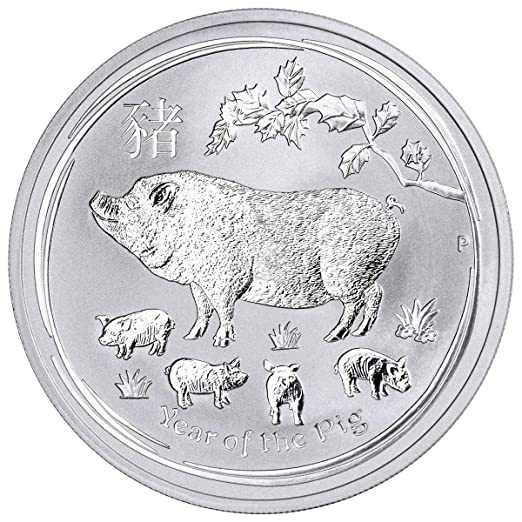 Roll of 20-2019 1//2 oz Silver Lunar Year of The Pig BU Australian Perth Mint