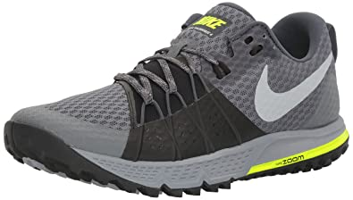 NIKE Men's Air Zoom Wildhorse 4 Dark Grey/Wolf Grey/Black Running Shoe 8