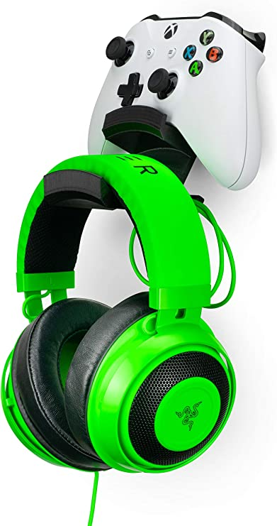 Switch PS3 Reduce Clutter Steam /& More Desktop Gamepad Controller /& Headphone Hanger Holder Black by Brainwavz PC Dualshock Steelseries Designed for Xbox ONE PS4 The Titan