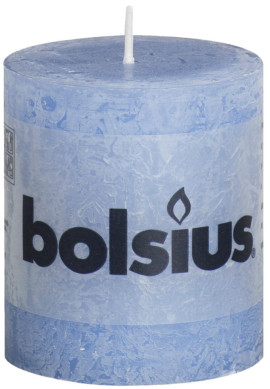 Rustique 103868020358Bougie Pilier, Cire de Paraffine, Bleu Jean Bolsius