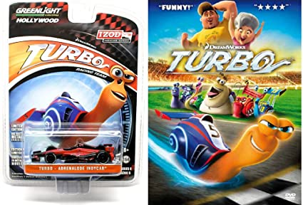 Turbo Animated DVD Movie & Collectors Car Set - Greenlight - Adrenalode indycar with Ryan Reynolds