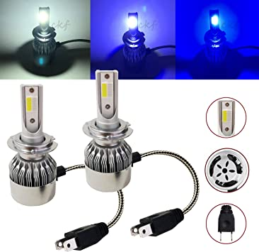A1 Error Free H7 LED Headlight Kit 6500K Low Beam Bulbs HID White 16000LM Canbus