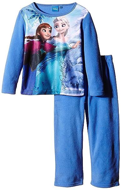 Niñas Disney Frozen invierno forro polar pijamas/juego de pijama multicolor Blue I 4 años