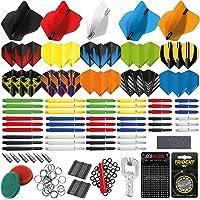 RED DRAGON 200-delig dart-accessoirepakket met vluchten, voorbouwen, ringen, puntenslijper, veren, spetters…