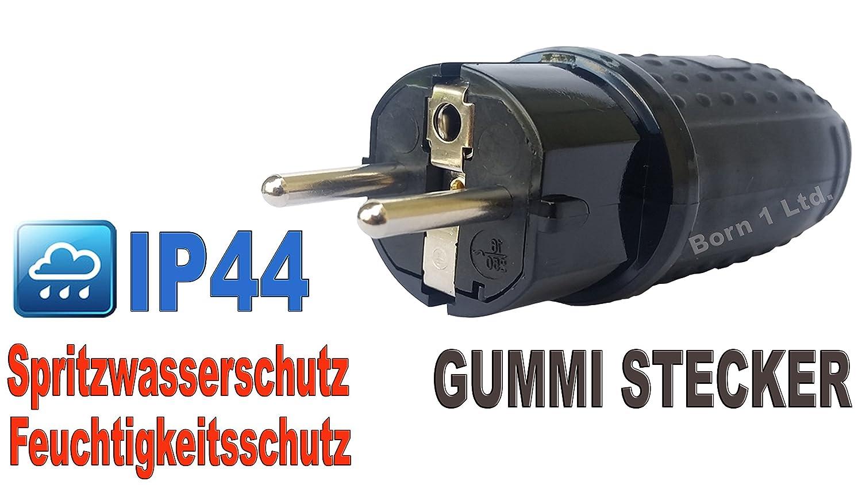 Goma, conector/acoplamiento Schucko Conector IP44, acoplamiento con tapa IP44, protecció n de contacto steckdos protección de contacto steckdos MP