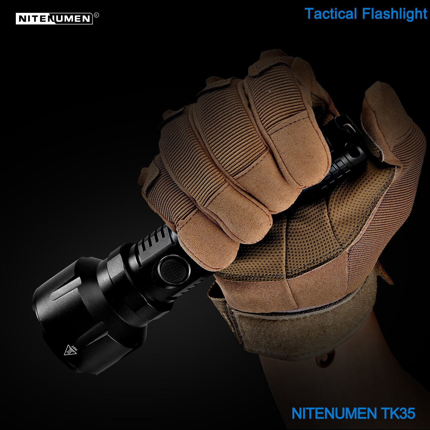 Nitenumen TK35 1120 Lumen USB Rechargeable CREE XM-L LED Tactical Flashlight