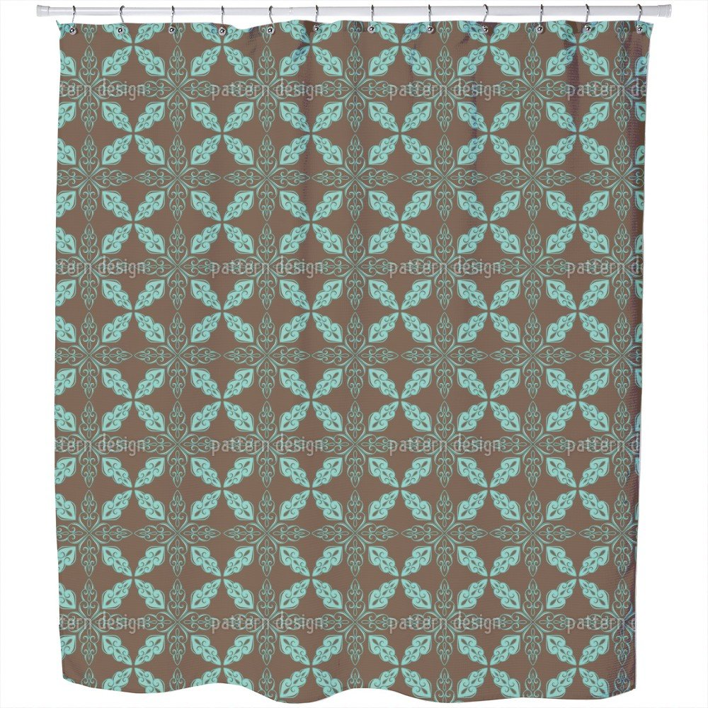 Uneekee Moroccan Mint Shower Curtain: Large Waterproof Luxurious Bathroom Design Woven Fabric
