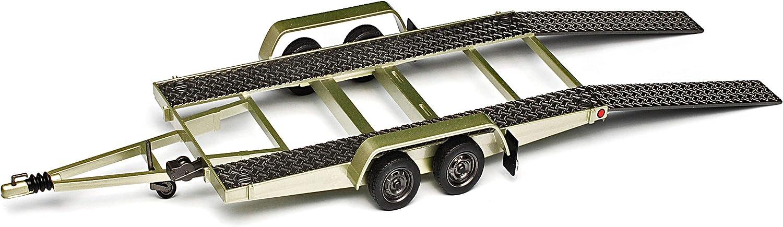 Anh/änger f/ür Autotransport mit Auffahrrampen Doppelachser Nr 225D 1//18 Otto Mobile Modell Auto mit individiuellem Wunschkennzeichen